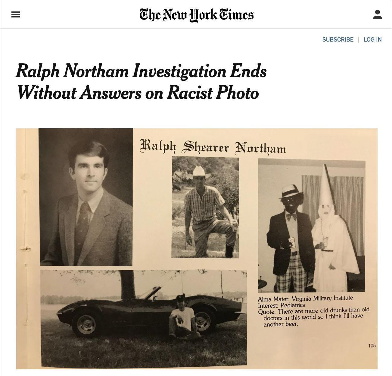 Northam's Blackface/KKK Photo Investigation Finds No Answers