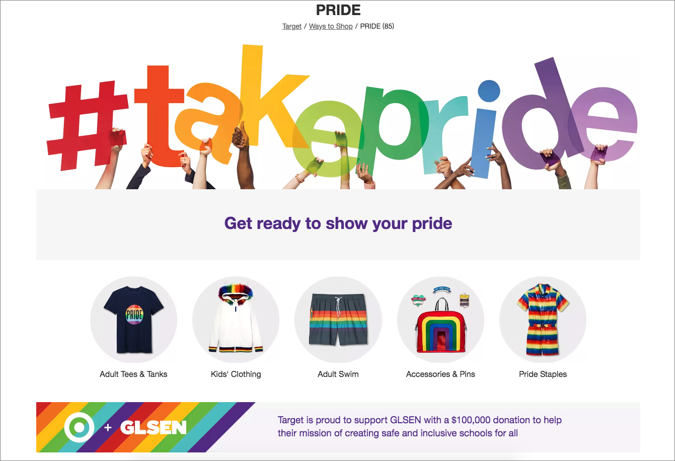 Target Sells LGBTQ Clothing For Children, Funds Group Whose Founder Praised NAMBLA Defender