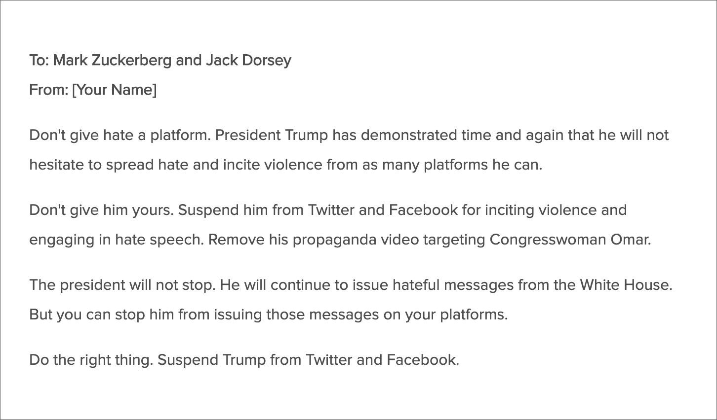 Women's March Demands Twitter, Facebook Ban President Trump For 'Hate'