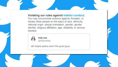 "Twitter Rules Saying Pedophiles ""Aren't the Good Guys"" is ""Hateful Conduct"""