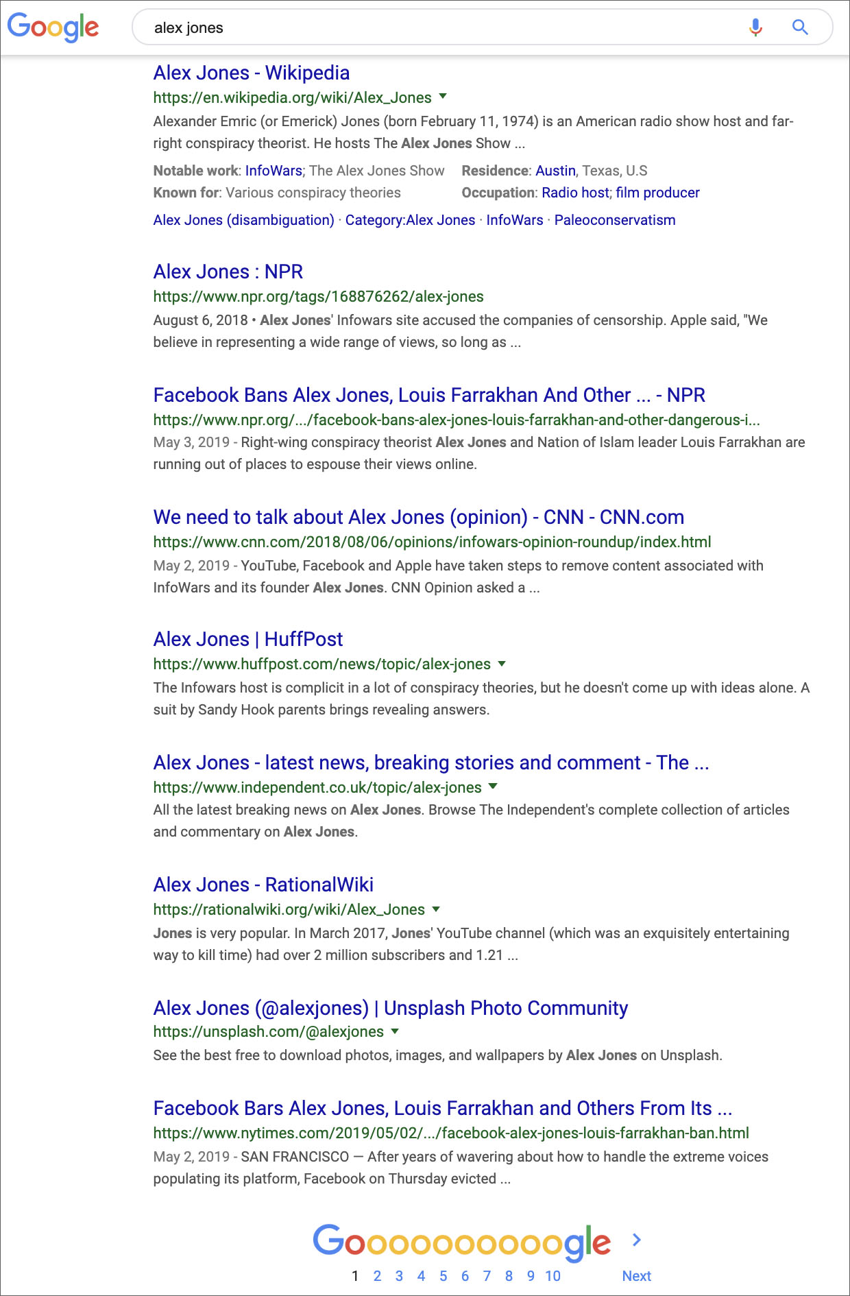 Google De-Lists Alex Jones From Web Search