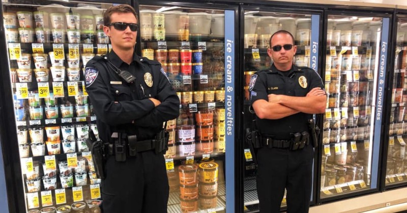 Cops Now Protecting Ice Cream Freezers After 'Licking' Trend Goes Viral