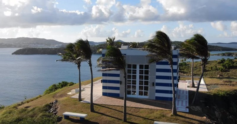 Drone Footage of Epstein's 'Pedo Island' Shows Weird Sun Dial, Mattresses Inside 'Temple' Building