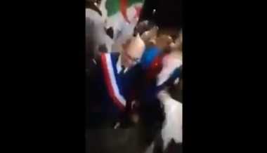 "Video: Socialist French Mayor Dances Awkwardly With Algerian Soccer Fans Chanting ""Allahu Akbar"""