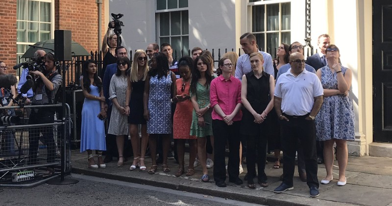 "Report: New British Prime Minister Removes ""Older White Faces"" From Staff Photo"