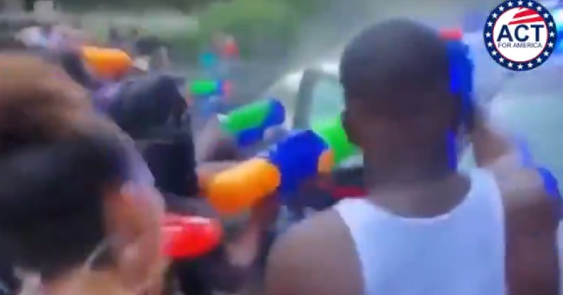 New Video Shows Cops Being 'Water Bombed' in Atlanta
