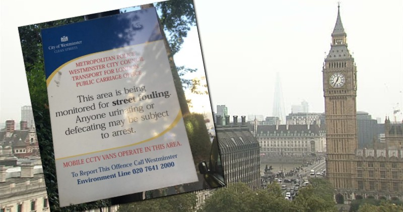 Signs Going Up in London Telling People Not to Sh*t in the Streets
