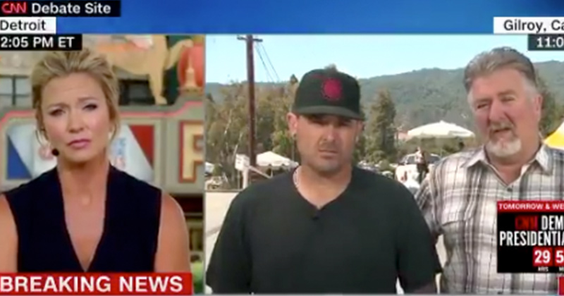 """Garlic Fest Shooting Witness to CNN: """"If I Had a Gun, I Probably Could Have Ended it Right There"""""""