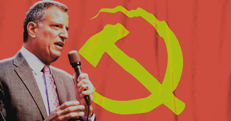 "Communist NYC Mayor Bill De Blasio Wishes Dem ""Comrades"" Good Luck"