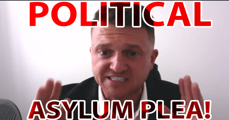 Tommy Robinson Pleas With Donald Trump For Political Asylum