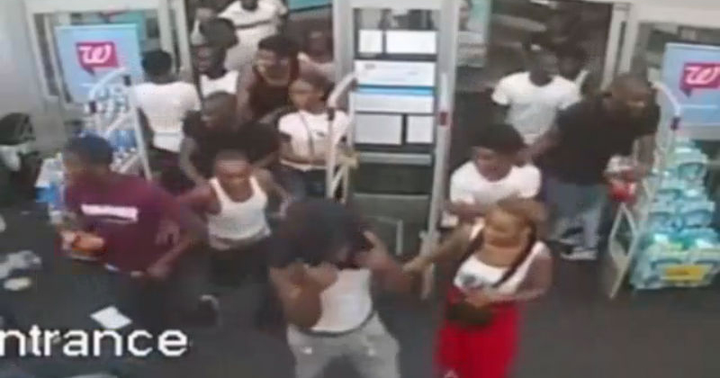 WATCH: Surveillance Video Shows Group Of About 60 Teens Vandalizing, Looting Walgreens