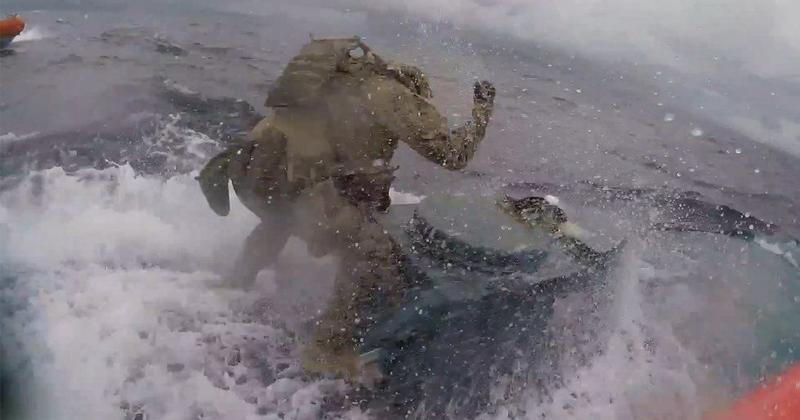 Video: Coast Guard Commando Leaps Onto Drug-Smuggling Submarine