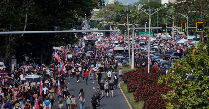 Thousands Join Protests Demanding Puerto Rico's Governor Resign