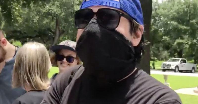 Watch: Deranged ANTIFA Thug Licks Infowars Reporter's Phone
