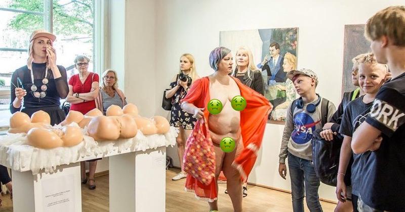 WTF? Feminist Strips Naked In Front of Children for Art Display