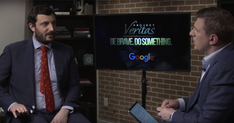 GOOGLE ENGINEER WHISTLEBLOWER TELLS PROJECT VERITAS: TECH 'DANGEROUS,' 'TAKING SIDES'