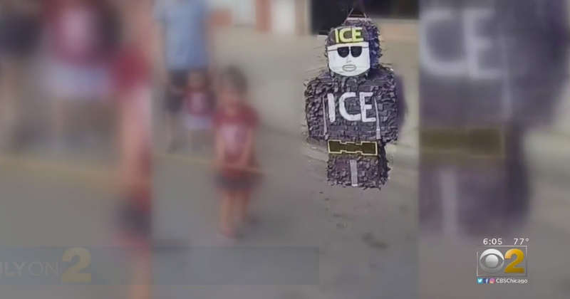 Video: Children Beat ICE Piñata at Party