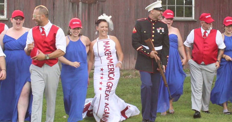 Triggered Dad Ditches Son's Patriotic MAGA-Themed Wedding