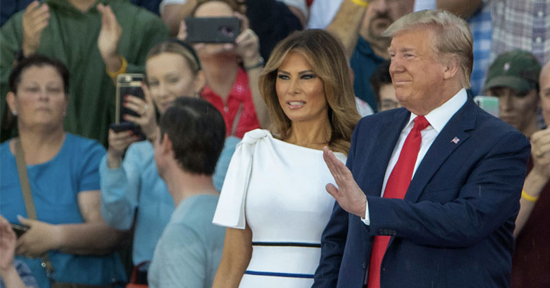 VIDEO: Melania Trump Tears Up At 4th Of July Rally