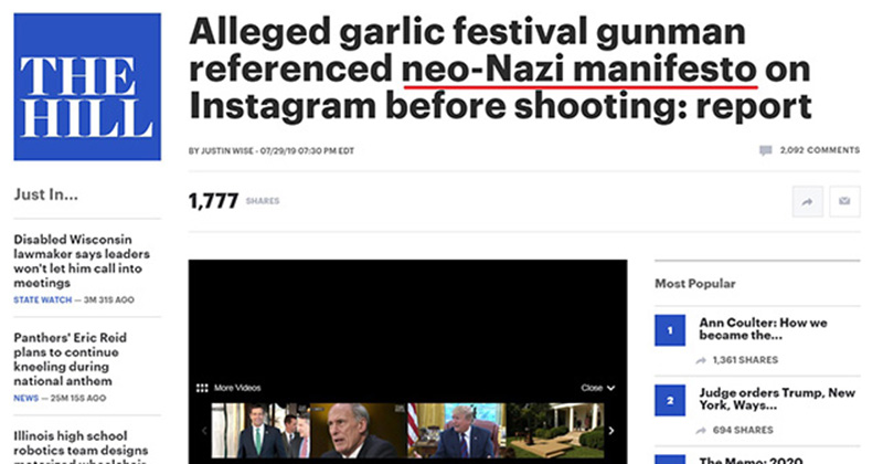 Media Label Book Garlic Festival Shooter Cited A 'Neo-Nazi Manifesto.' The Book Was Written In 1890.