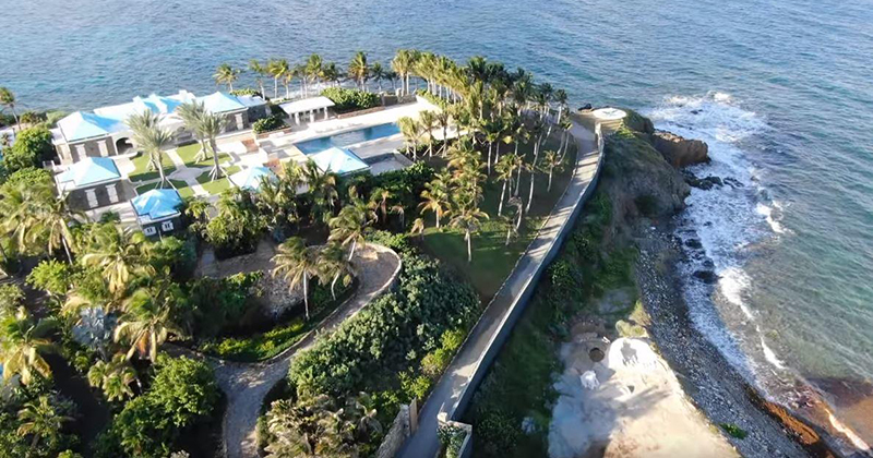 Watch 4K Drone Footage Of Epstein's 'Pedo Island'