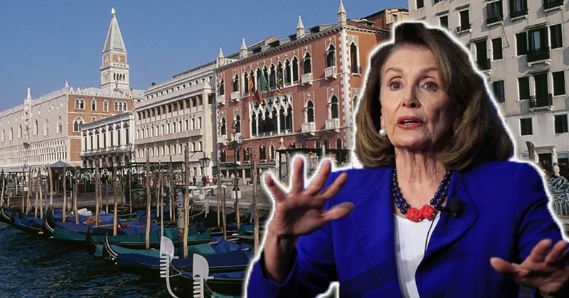 Pelosi Lectures Trump On Baltimore Poverty -- From 5-Star Hotel In Italy!