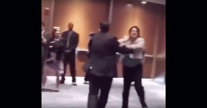 WATCH: Screaming Rashida Tlaib Physically Removed From 2016 Trump Event