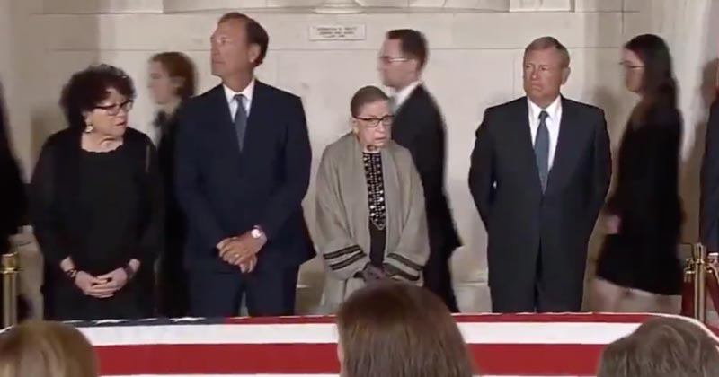 Deep Fake? Internet Claims RBG Didn't Actually Attend SCOTUS Funeral
