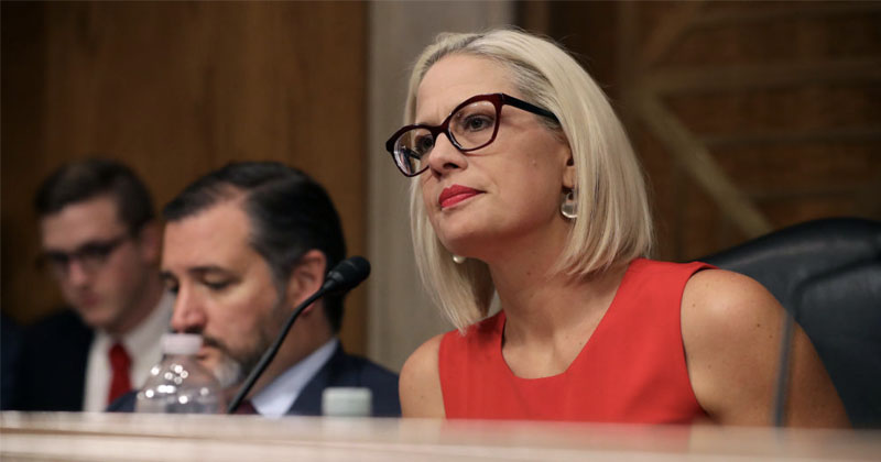 Arizona Dem Sen. Kyrsten Sinema Backs Plan to Quickly Deport False Asylum Seekers