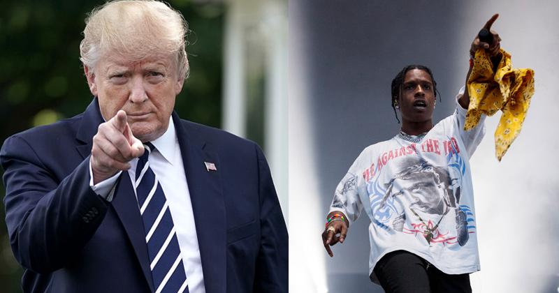 Trump In Talks With Swedish Government to Release Detained Rapper A$AP Rocky