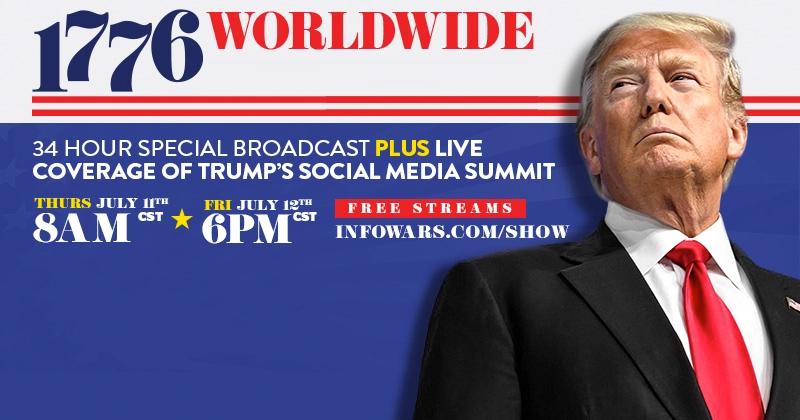 Live Now! Infowars' 1776 Worldwide Broadcast!