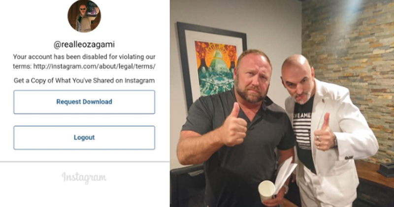 Instagram Bans Researcher Over Pic with Blacklisted Alex Jones