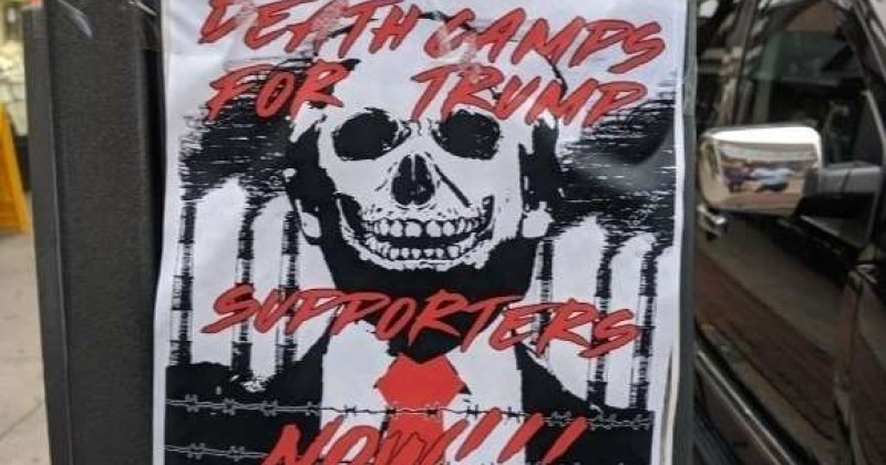 'Death Camps For Trump Supporters' Posted on Homes & Cars Belonging to Republican Congressman's Staff