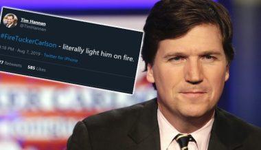 Dem Activist 'Jokes' About Setting Fire to Tucker Carlson