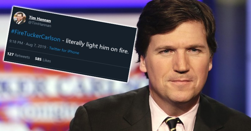 Dem Activist 'Jokes' About Setting Fire to Tucker Carlson