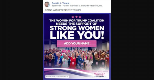 """Facebook Bans Trump Campaign Ad For """"Assuming Gender Identity"""" - Report"""