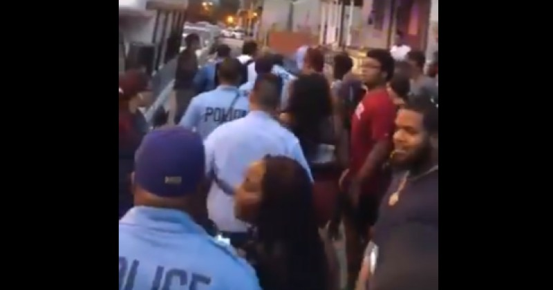 Video: Residents Harass, Throw Objects at Philly Police Leaving Scene of Shootout