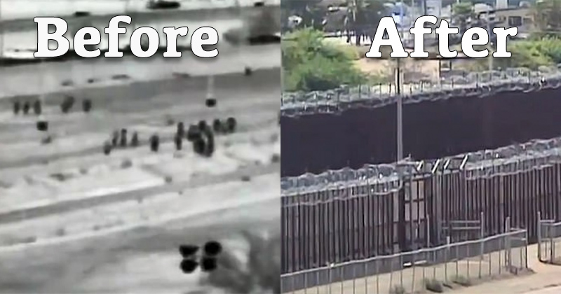 60 Miles of New Border Wall Erected Where Illegals Once Stormed America