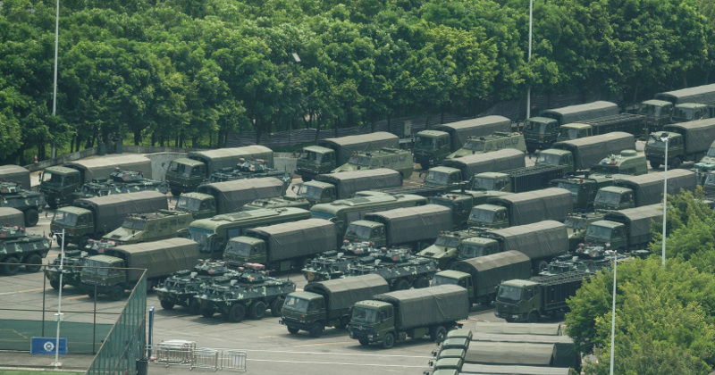Chinese Forces Run Exercises Along Hong Kong Border