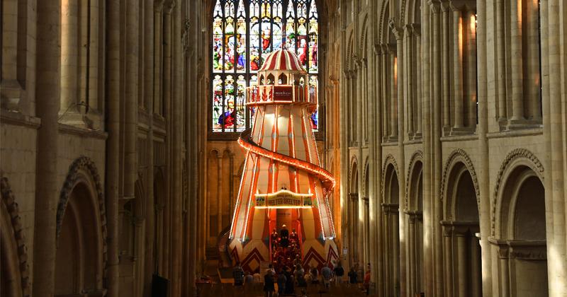 Clown World: Cathedral Installs Massive 'Helter-Skelter' Slide