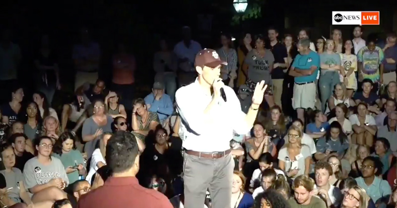 Watch: Beto Tells Man His Mom Had Right to Abort Him 1 Day Before His Birth