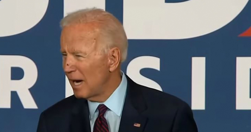 Fly Lands on Biden's Face--as He Accuses Trump of 'Immorality' and 'Carnage'
