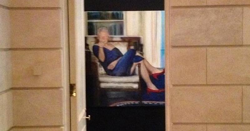 Shock Photo: Bill Clinton Wears Monica Lewinsky Dress In Epstein Portrait