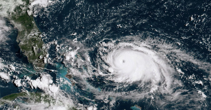 Hurricane Dorian Shifts Course, Strengthens to Category 4