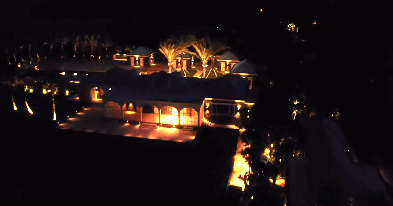 Watch: Footage Shows Jeffrey Epstein's Creepy Orgy Island at Night