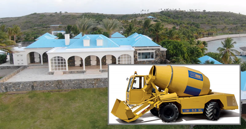 Cover Up? Epstein Shipped $100K Cement Mixer To 'Pedo Island' Weeks Before Crushing Exposé