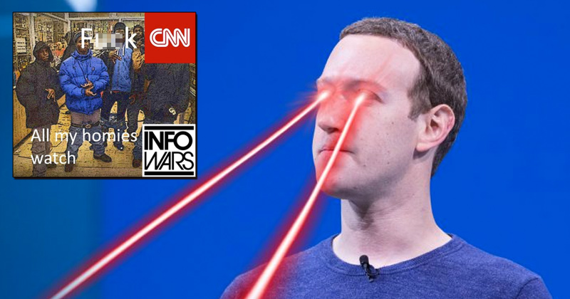 Facebook Suspends Page Over Pro-Infowars Meme