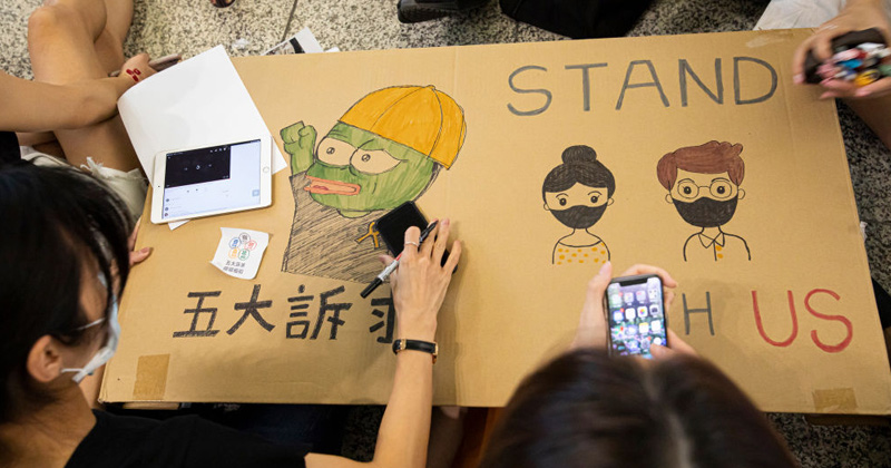 Pepe the Frog Emerges as Symbol of Resistance in Hong Kong Amid Crackdown