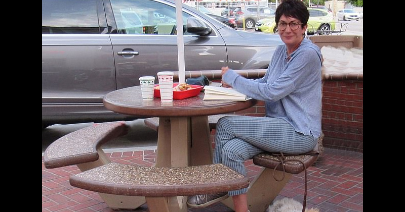 Ghislaine Maxwell STAGED In-N-Out Photo in Los Angeles with her Close Friend and Attorney