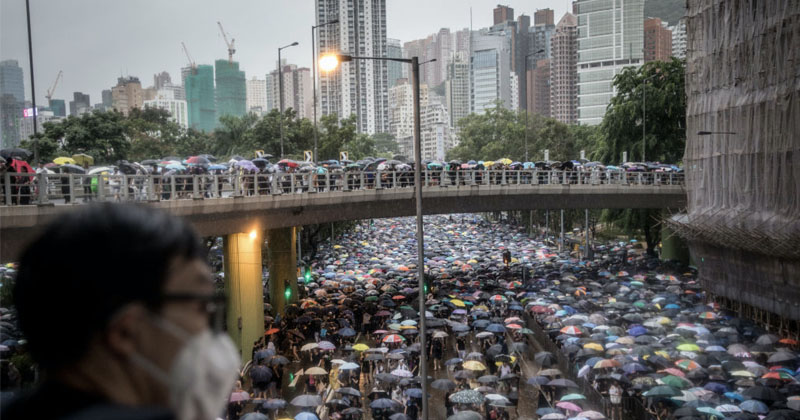 Over 1 Million Flood Hong Kong Streets for Latest Anti-ChiCom Rally